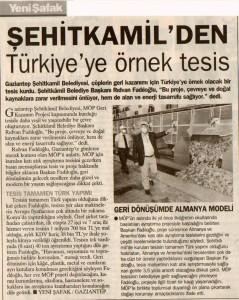ŞEHİTKAMİL'DEN TÜRKİYE'YE ÖRNEK TESİS